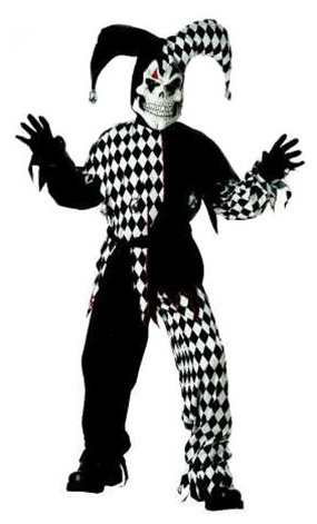 Scary Kid Costume - Evil Jester