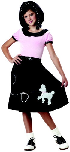 Girls 50s Poodle Skirt Costume