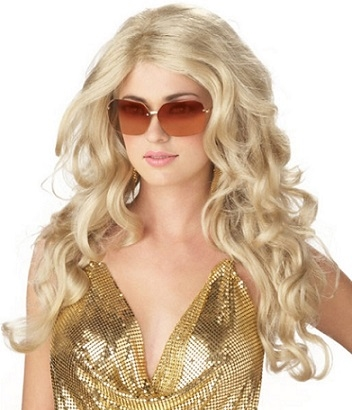 Beautiful Blonde Costume Wigs for Halloween