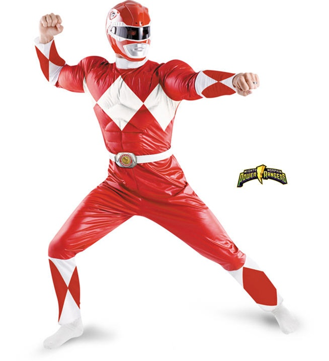 Red Power Ranger Classic Muscle Adult Costume