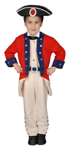 Deluxe Toddler Colonial Soldier Costume