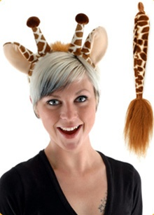 Plush Giraffe Ears and Tail Set
