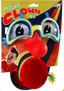 Instant Clown Kit - Mini Hat, Glasses and Nose