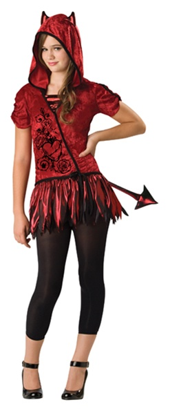 tween punk devil girl costume