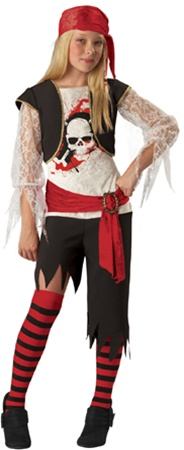 Tween Girlu0027s Pirate Costume  sc 1 st  SpookShop & Tween Halloween Costumes for Girls