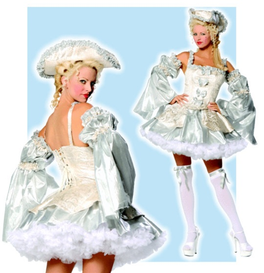 Sexy Silver Marie Antoinette Costume
