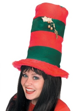adult striped christmas top hat