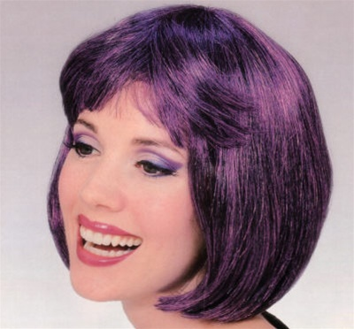 Short Dark Purple Supermodel Wig