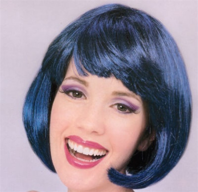 Short Dark Blue Supermodel Wig