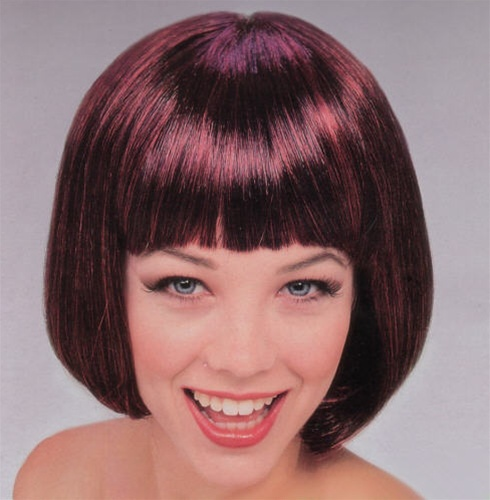 Short Dark Red Supermodel Wig