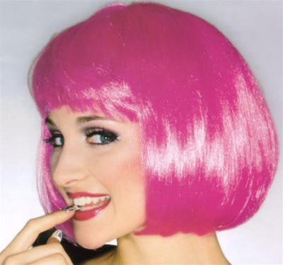 Short Hot Pink Supermodel Wig