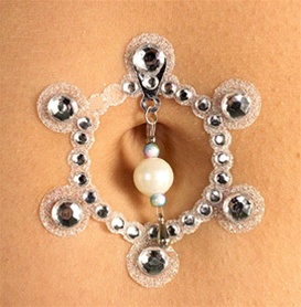 Silver Crystal Belly Jewels